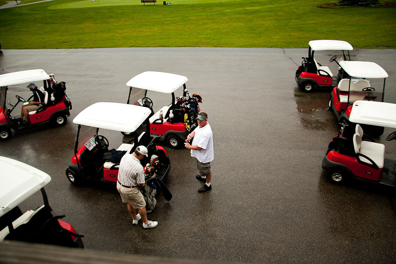 Photographing the wedding golf outting